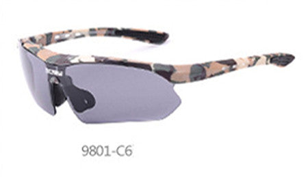 Sport Sunglasses Men Army Military Bullet-proof Camouflage UV400 Mirror Glasses