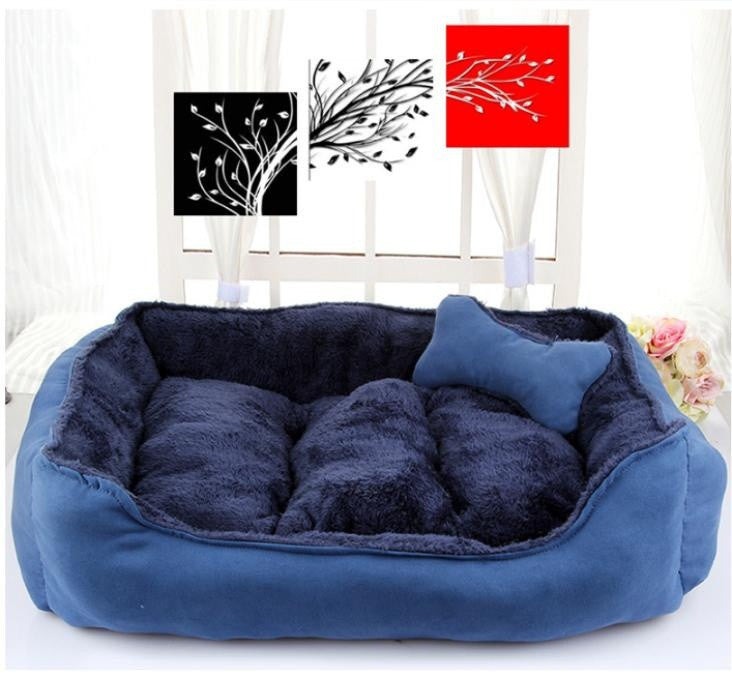 New Cotton Pet Cats Dogs Small Animals High Quality Fall Winter Kennel Dog Bed