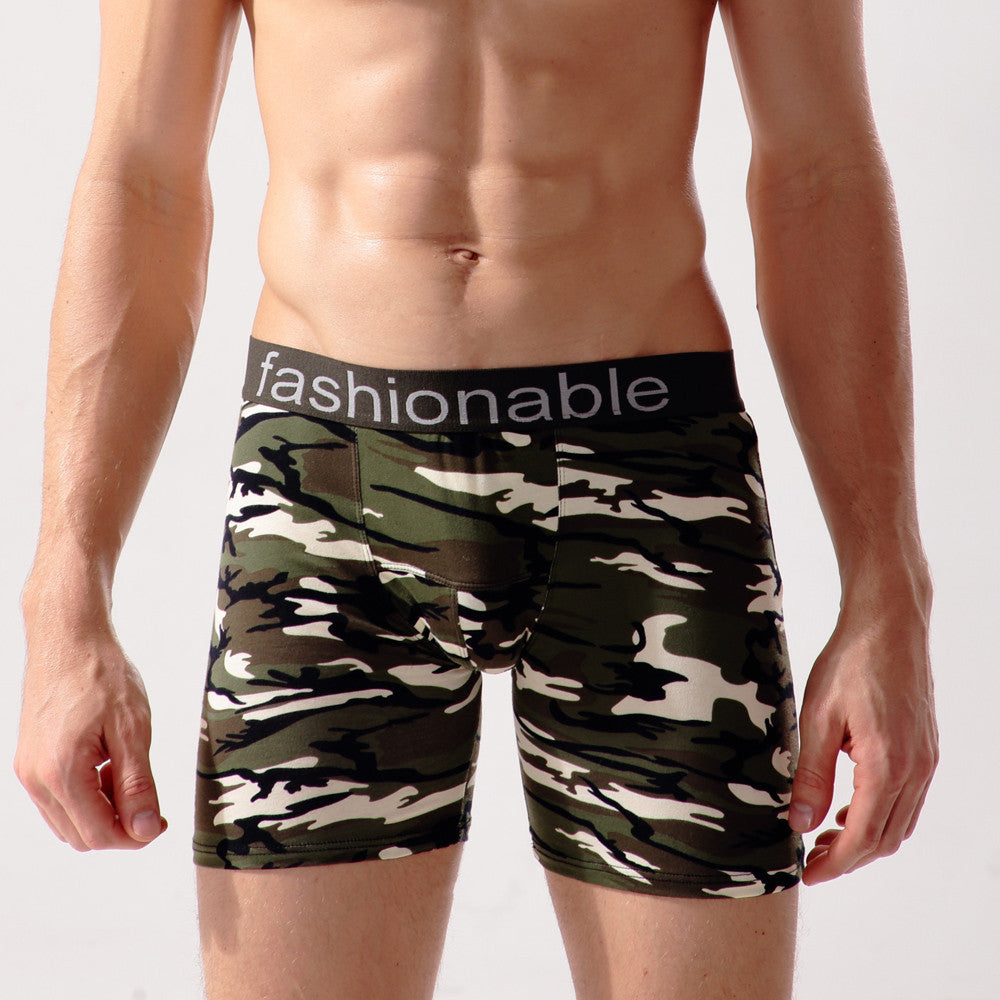 Fashion Mens Brief Cotton Camouflage Underwear Shorts Boxers Underpants