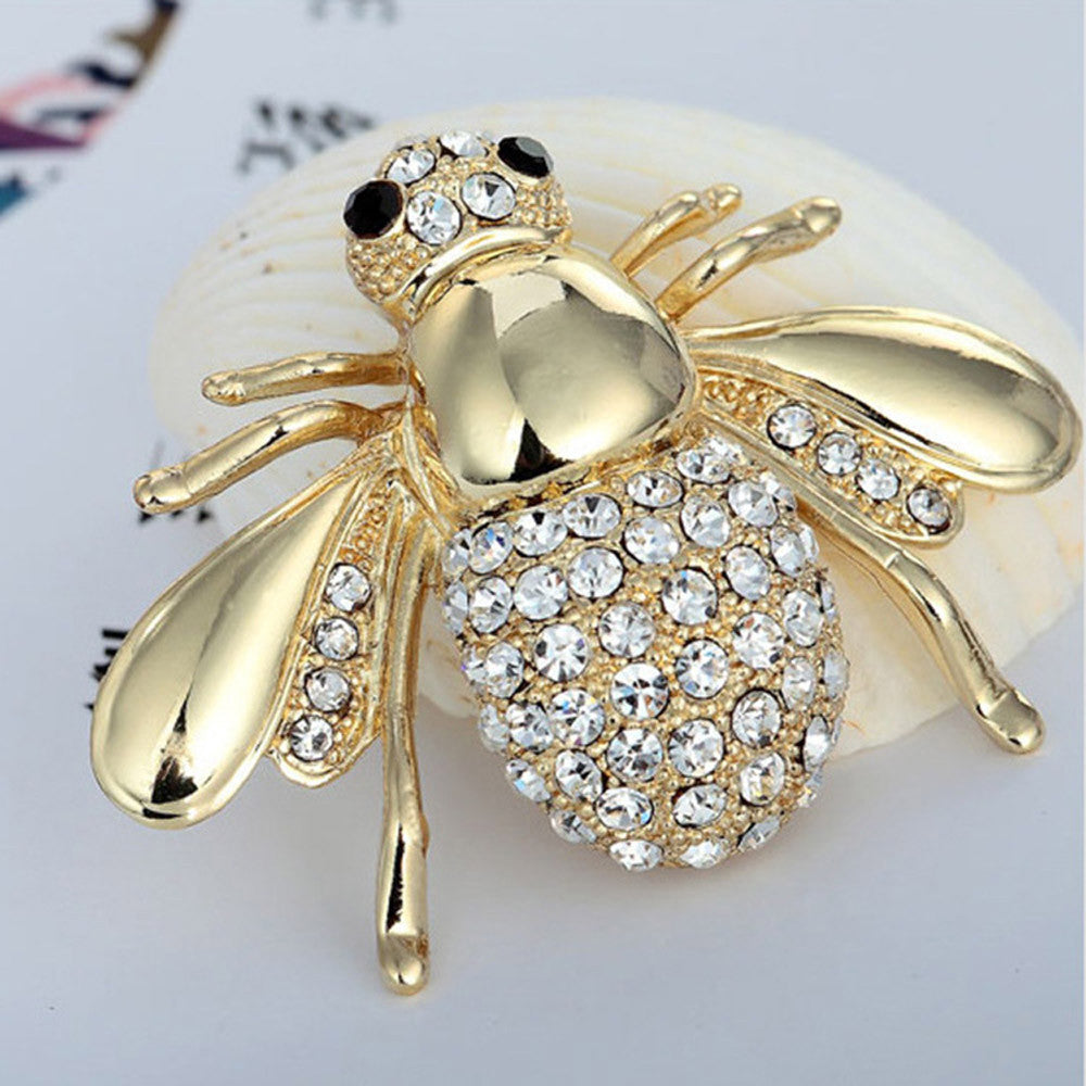 Cute bee Women Shirt Suit Gift Collar Clip Shirt Brooch