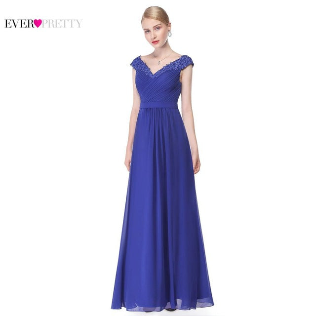 Women's Elegant Sexy Deep V neck Long Evening Dresses