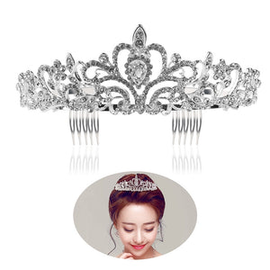 TINKSKY Wedding Bridal Prom Shining Crystal Rhinestones Crown Tiara Headband