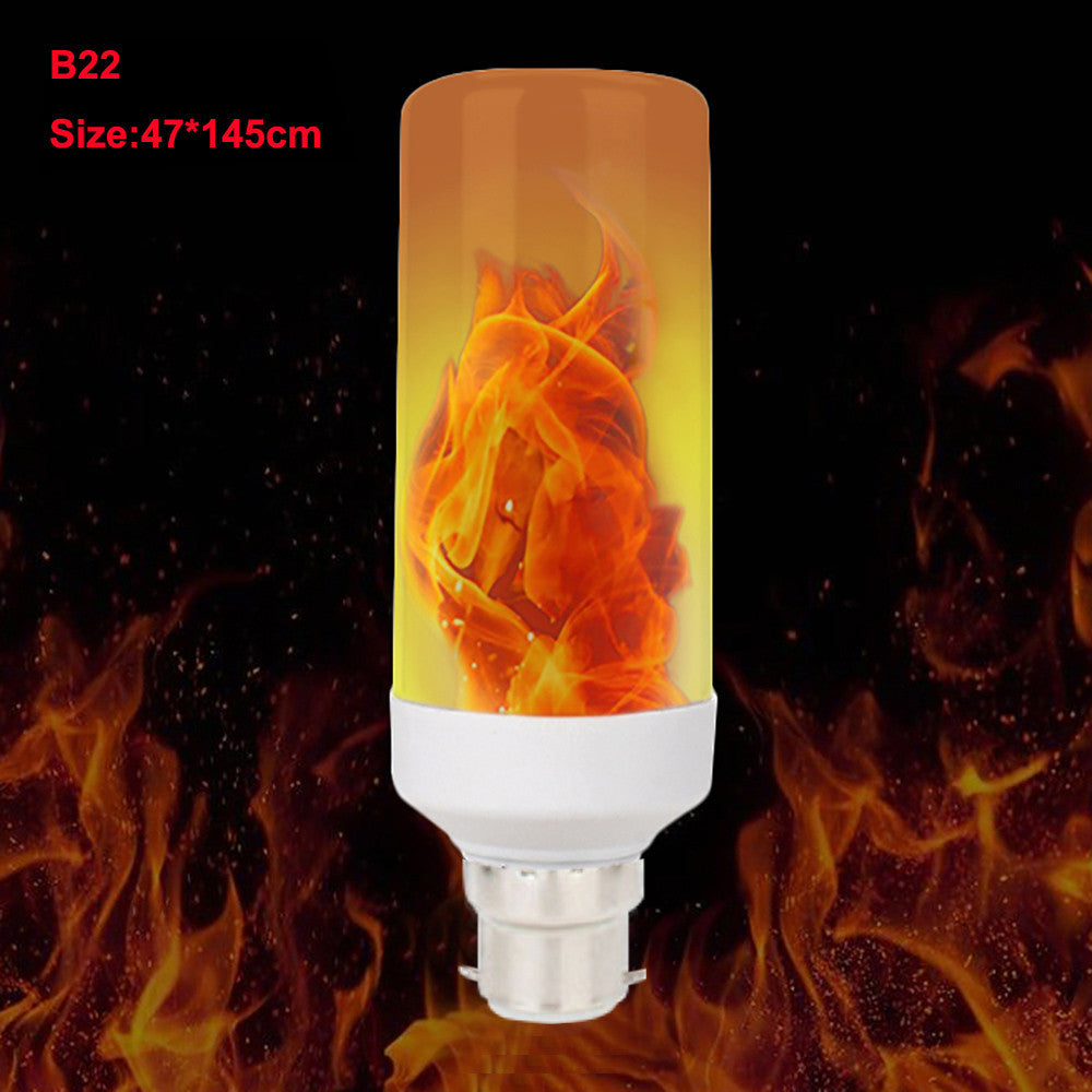 LED Flame Fire Light Effect Simulated Nature Corn Bulbs E26 Decoration Lamp