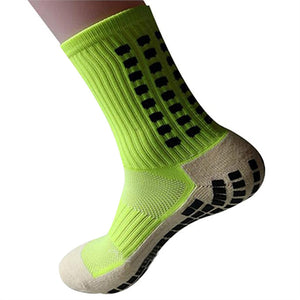 Men Sports Anti-Slip Football Socks Tock Sox Mid Calf Football Socks Soccer Short Stockings