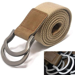 Fashion men Buckle Waistband Handmade Waist Canvas Leather belt Costume