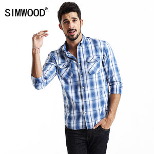 Spring  Turnover Collar Plaid Shirt  Single-breasted With Front Pocket Full Sleeve