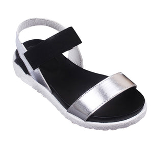 Women's Summer Sandals Shoes Peep-toe Low Shoes Roman Sandals Ladies Flip Flops