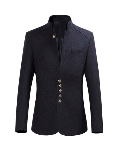 Spring Men's Blazers Single Breasted Full Smart Casual Slim Fit Overcoat
