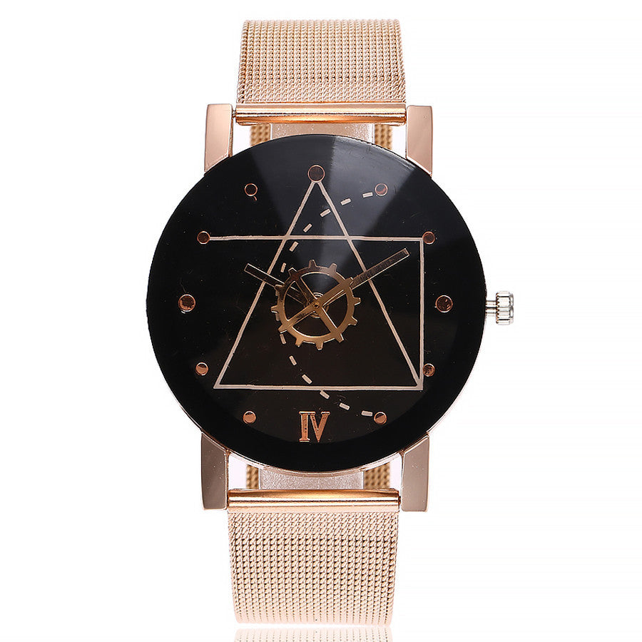 vansvar Casual Quartz Stainless Steel Band Marble Strap Watch Analog Wrist Watch