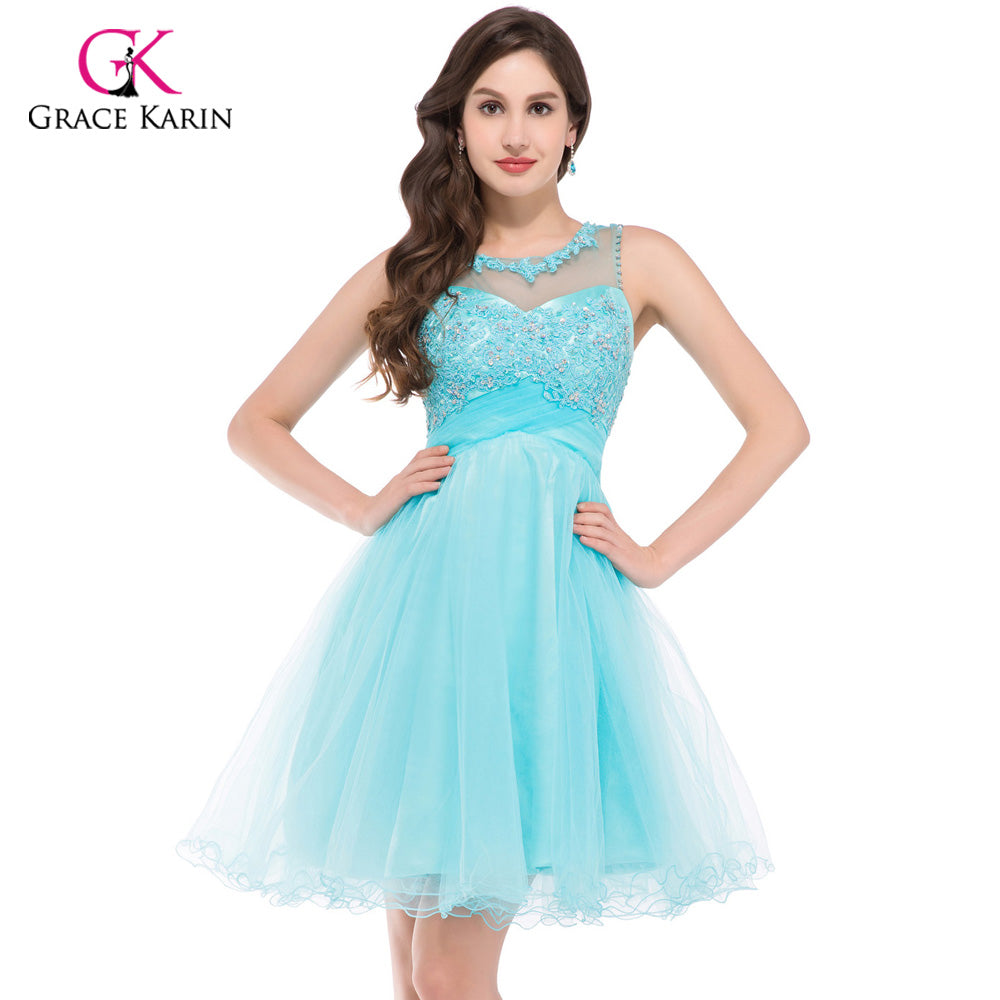 Short Open Back Ball Gown Homecoming Dress For Party or Prom