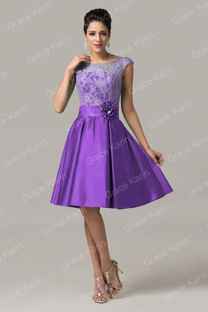 Mother of the Bride Dresses short knee length Satin Lace