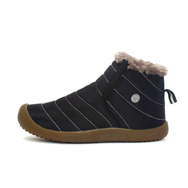 New Fashion Men Winter Shoes Solid Color Snow Boots Plush Inside Antiskid Bottom Keep Warm Ski Boots Free Shipping