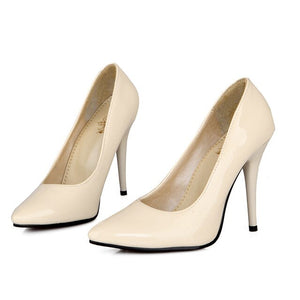 Pu Leather Office Shoes Elegant Pumps  Seven Colors Thin High Heel