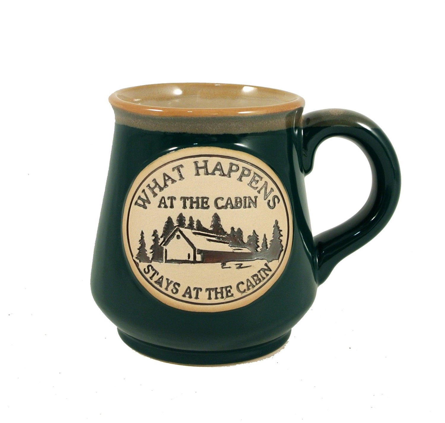 Ceramic Mug 18oz. What ever Happens At The CabinStay At The Cabin