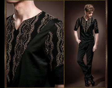 New Luxury Patterned T-Shirt-NowFashionTrend.com