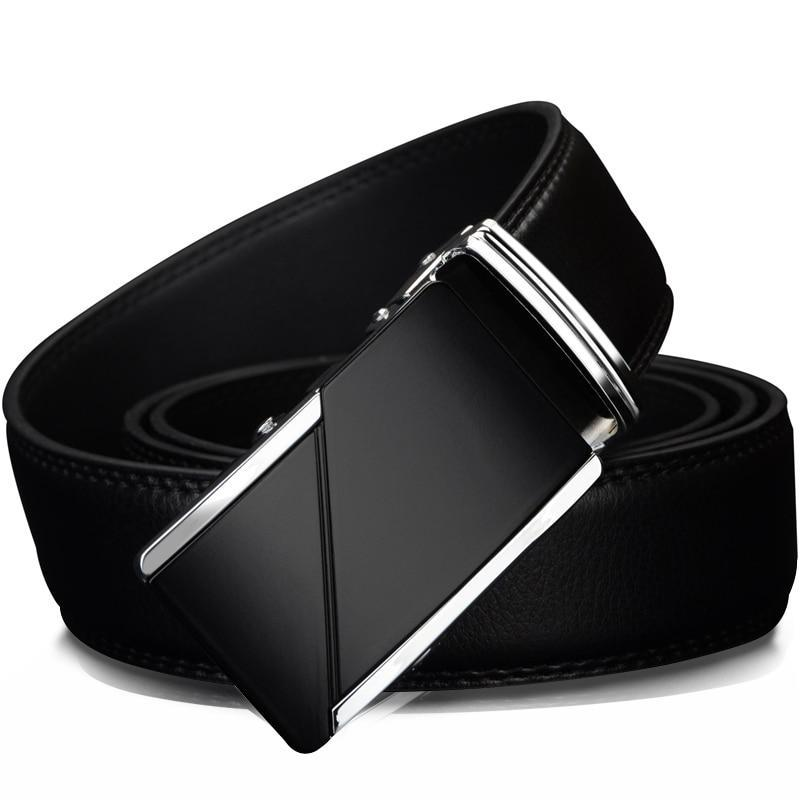 Leather Automatic Ratchet Buckle-NowFashionTrend.com