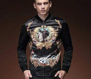 New Printed Slim Jacket-NowFashionTrend.com