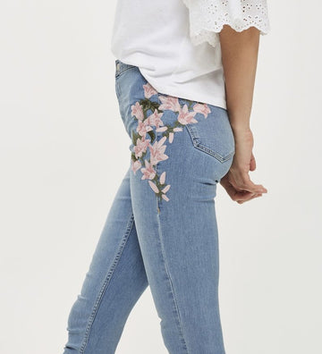 New Embroidery Stretch Jeans - NowFashionTrend.com