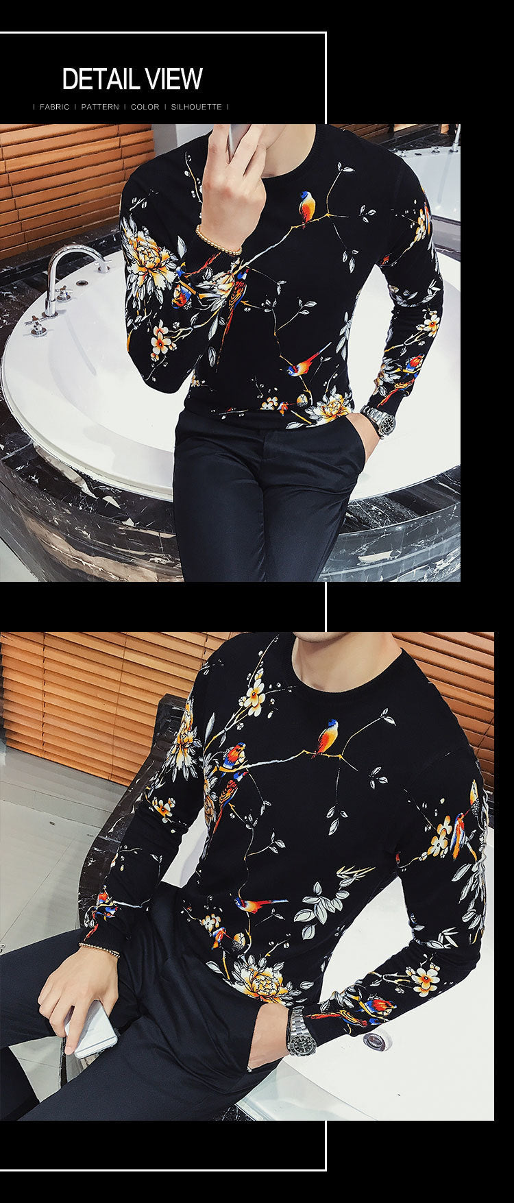 UNIQUE LUXURY PRINT SWEATER-NowFashionTrend.com