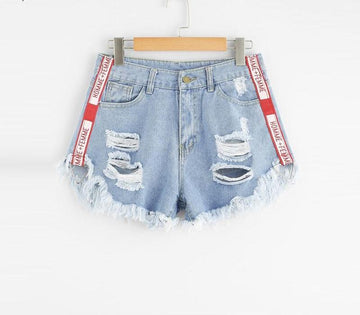 New Arrival Ripped Denim Shorts - NowFashionTrend.com
