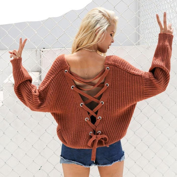 Sexy Backless Sweater-NowFashionTrend.com
