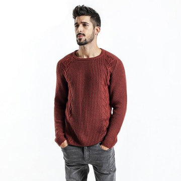New Sweaters Men Slim Fit Knitted Casual Sweater-NowFashionTrend.com