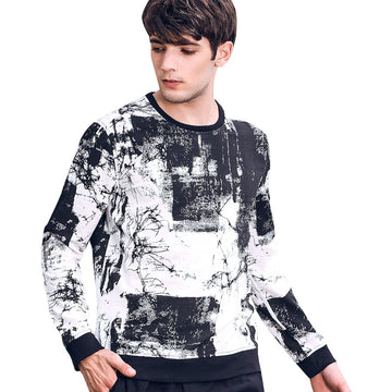 Casual Long Sleeved Printed Sweatshirt-NowFashionTrend.com