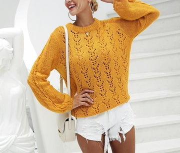 New Fashion Loose Knitted Sweater-NowFashionTrend.com