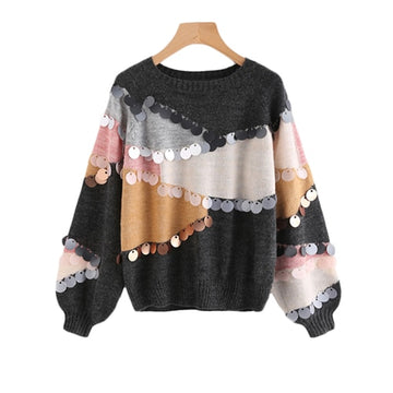 Round Neck Loose Fit Sweater -NowFashionTrend.com
