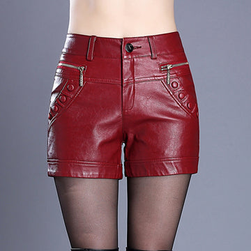 Sexy Leather Shorts -NowFashionTrend.com