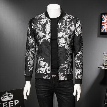 New Print Bomber Jacket-Available In Green-NowFashionTrend.com