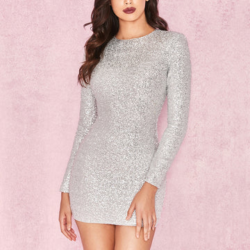 New Arrivals Long Sleeve Luxurious Dress-NowFashionTrend.com