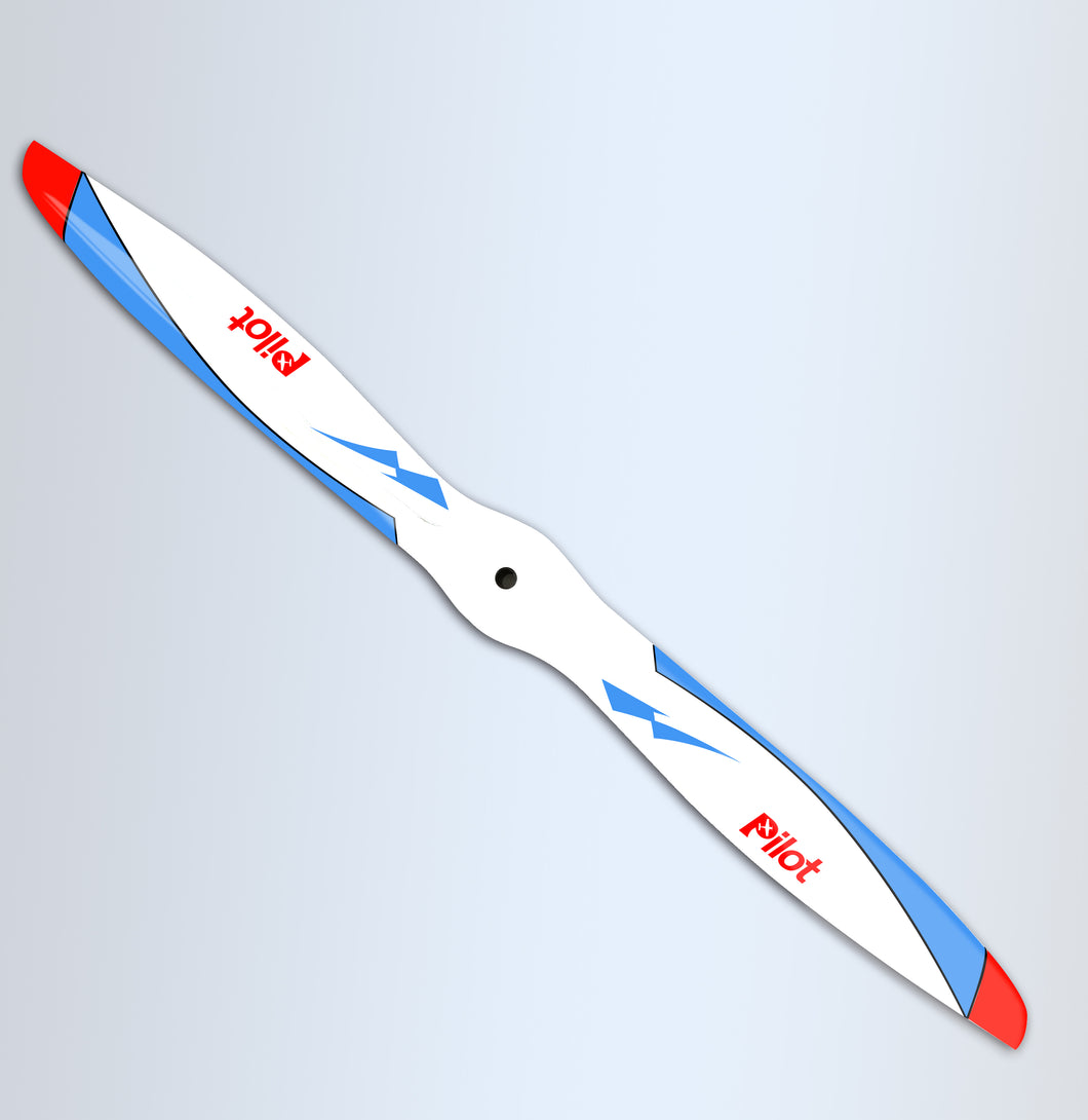 Bernotech propeller for Extra NG blue and red scheme