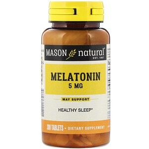 Mason Natural, Melatonin, 5 mg, 300 Tablets