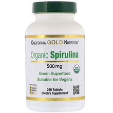 Load image into Gallery viewer, California Gold Nutrition, Organic Spirulina, 500 mg, 240 Tablets