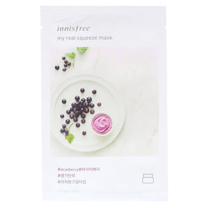 Innisfree, My Real Squeeze Mask, Acai Berry, 1 Sheet