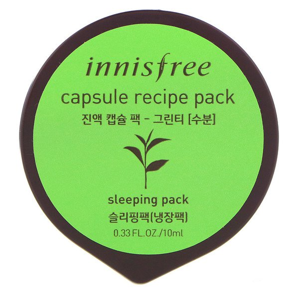 Innisfree, Capsule Recipe Pack, Green Tea, 0.33 fl oz (10 ml)