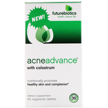 Load image into Gallery viewer, FutureBiotics, Acne Advance with Colostrum, 90 Vegetarian Tablets