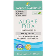 Load image into Gallery viewer, Nordic Naturals, Algae DHA, 500 mg, 60 Soft Gels