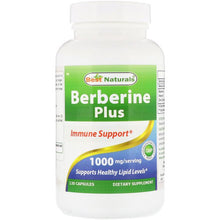 Load image into Gallery viewer, Best Naturals, Berberine Plus, 1000 mg, 120 Capsules