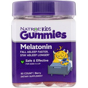 Natrol, Kids, Melatonin, Berry, For Ages 4 & Up, 90 Gummies