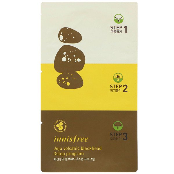 Innisfree, Jeju Volcanic Blackhead 3 Step Program, 3 Masks