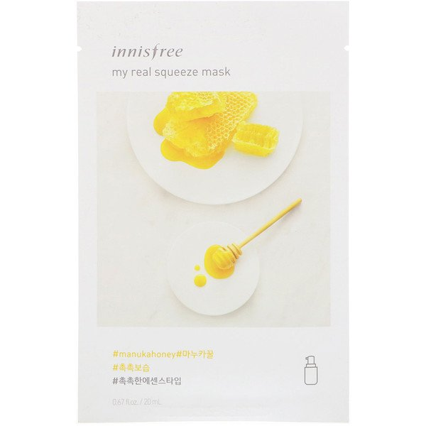 Innisfree, My Real Squeeze Mask, Manuka Honey, 1 Sheet, 0.67 fl oz (20 ml)