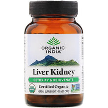 Load image into Gallery viewer, Organic India, Liver Kidney, Detoxify & Rejuvenate, 90 Veg Caps