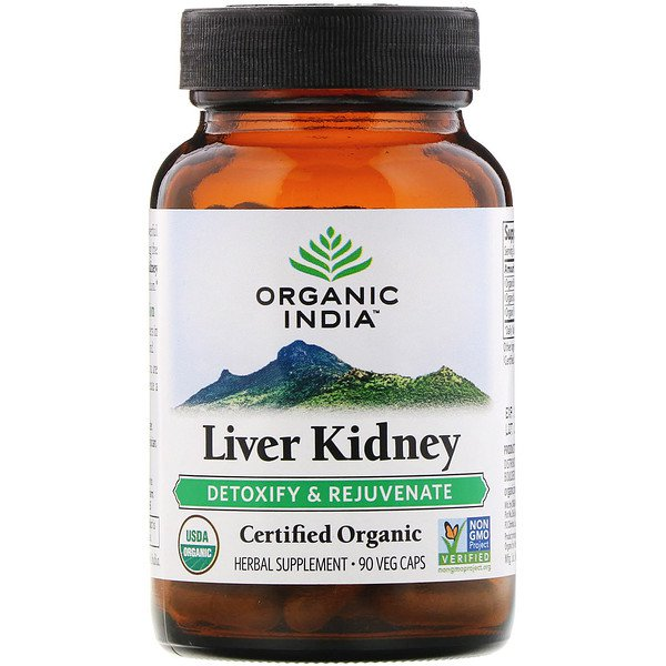 Organic India, Liver Kidney, Detoxify & Rejuvenate, 90 Veg Caps