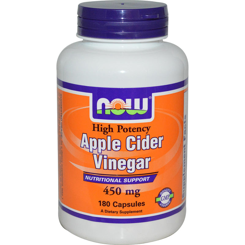 Now Foods, Apple Cider Vinegar, High Potency, 450mg, 180 Capsules