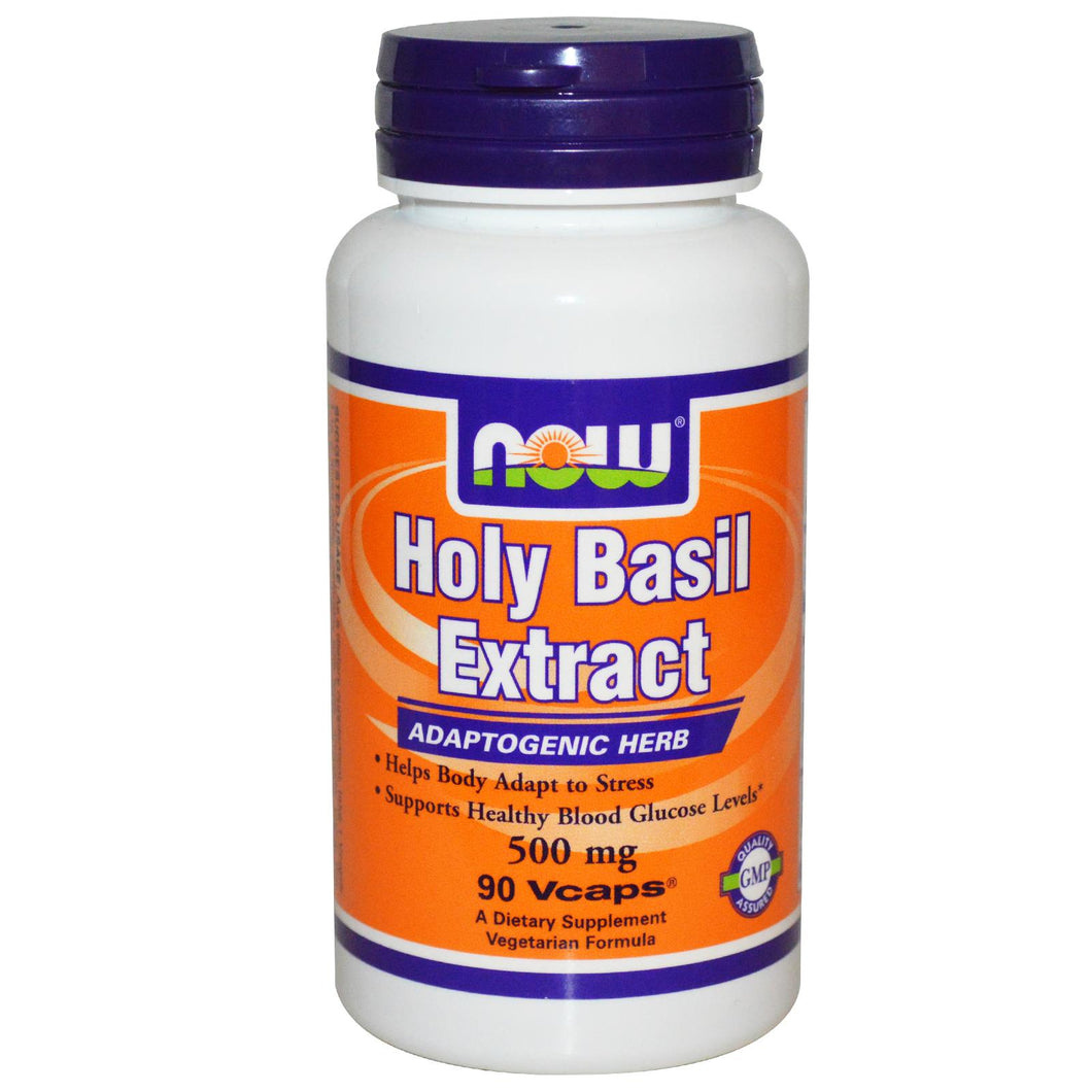 Now Foods Holy Basil Extract 500mg 90 Vcaps - Dietary Supplement