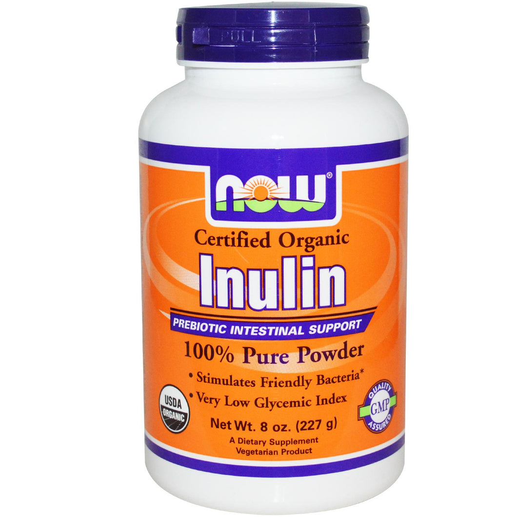 Now Foods Organic Inulin 100% Pure Powder 227 grams
