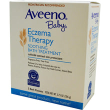 Load image into Gallery viewer, Aveeno Baby Eczema Therapy Soothing Bath Treatment 5 pkts (106gm)