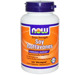 Now Foods, Soy Isoflavones, Extra Strength, 120 Vcaps - Supplement
